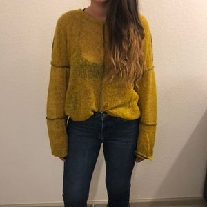 Vintage Mustard top made from recycled materials